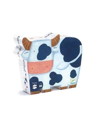 Djeco Djeco Dekoratif Puzzle 24 Parça/The Cows On The Farm Pembe